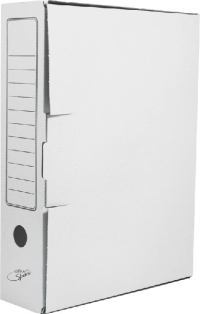 Короб архивный с клапаном микрогофрокартон 75 мм белый A-GBL75C_371